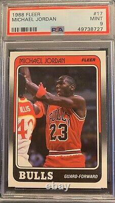 1988 Fleer Basketball Michael Jordan #17 PSA 9 MINT Brand new label