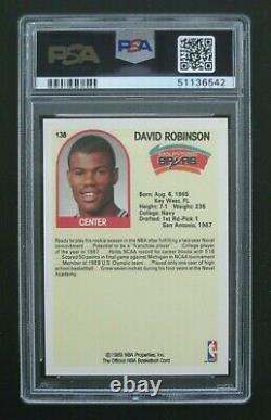 1989 NBA Hoops David Robinson RC #138, NBA HOF, PSA 10 Gem Mint, BRAND NEW GRADE