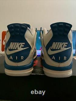 1989Military Blue Jordan 4s Brand New Original With Box And Hang Tag Size RARE