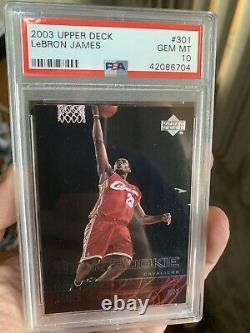 2003 Upper Deck LeBron James Rookie 301 PSA 10 GEM MINT Hot Card Brand New