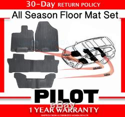 2016 -2019 Genuine OEM Honda Pilot All Season Floor Mat Set Mats (08P17-TG7-101)
