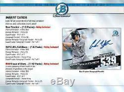 2020 Bowman Chrome Baseball Hobby Box Brand New Sealed Free Priority Shipping