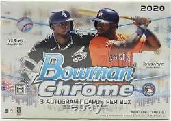 2020 Bowman Chrome Baseball Hta Jumbo Box Brand New Sealed Free Shipping