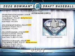 2020 Bowman Draft Baseball Hobby Jumbo Hta Box Brand New Sealed Free Ship
