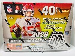 2020 Panini Mosaic NFL Football Mega Box Brand New Sealed Gold Fluorescent