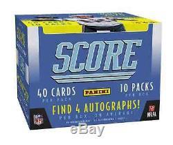 2020 Panini Score Football Hobby Jumbo Box Brand New 4 Autos Free Shipping