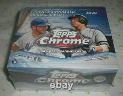 2020 Topps Chrome Baseball Hobby Jumbo Box Brand New Sealed 5 Autos Damaged B