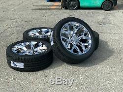 22 Chrome Chevy Silverado Tahoe GMC Suburban Yukon Rims Wheels Tires CK156 2019