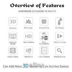 2650 Games Pandora Treasure II 3D Home Console Arcade Machine Joysticks Mario HD