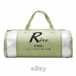 2PCS King Size Original Bamboo Memory Foam Pillow Hypoallergenic with Carry Bag