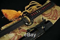 41 HANDMADE Japanese SAMURAI NINJA SWORD BLACK STEEL FULL TANG BLADE VERY SHARP