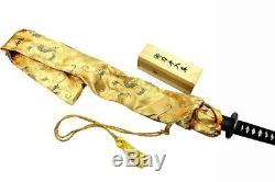 41 Real BATTLE READY Handmade DAMASCUS STYLE Japanese Samurai Katana Sword BLK