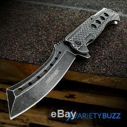 9 TAC FORCE Razor Spring Folding Pocket Knife Stonewash New Assisted Open