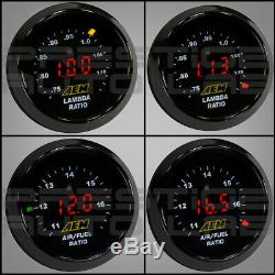 AEM Electronics Original Wideband O2 UEGO Air/Fuel Ratio Controller Gauge, Black