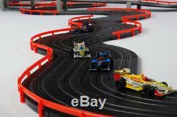 AFX Super International 4-Lane Mega G+ HO Slot Car Track Set withTri-Power FREE SH
