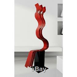 Abstract Metal Art LARGE RED SCULPTURE Modern Garden Art ORIGINAL Jon Allen