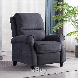 Accent Recliner Chair Roll Arm Push Back Armchair Lounge Sofa Seat Living Room