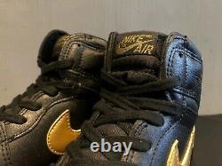 Air Jordan OG 1 Black/Gold Family And Friends Edition 1985 Original