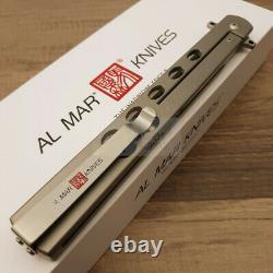 Al Mar Slimline Quicksilver Folding Knife 5 D2 Tool Steel Blade Titanium Handle