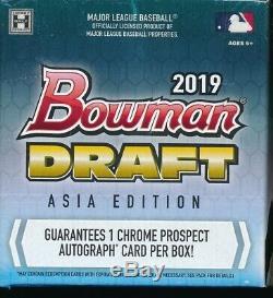 Asia Edition 2019 Bowman Draft Chrome Jumbo Hobby Box (1) Brand New Very Rare
