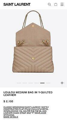 Authentic YSL Loulou Bag Medium Brand New In Original Box