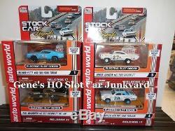 Auto World 4 Brand NEW T-Jets Stock Car Legends FITS Aurora, AW, JL