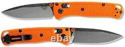 Benchmade 533 Mini Bugout Folding Knife 2.82 S30V Satin Plain Blade, Orange