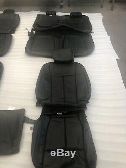 Black Leather Original Ford F150 Super Crew Takeoff Seat Upholstery 2015-2019 @