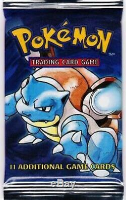 Blastoise Base Set Booster Pack Original 1999 Pokemon Cards Brand New Sealed