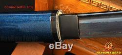 Blue Blade Japanese Shirasaya Katana Samurai Sword Folded Steel Full Tang Sharp