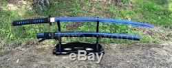 Blue Color 1095 High Carbon Steel Blade Japanese Samurai Sword Sharpened Katana