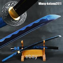 Blue Dragon Katana Battle Ready Japanese Samurai Sharp Functional Fulltang Sword