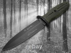 Boker Tree Brand Applegate 5.5 Fixed Blade Knife Black Canvas Micarta 121545