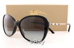 Brand New Burberry Sunglasses BE 4235Q 3001/8G Black/Grey Gradient For Women