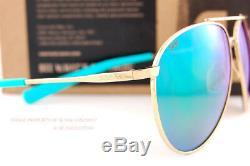 Brand New Costa Del Mar Sunglasses PIPER Shiny Gold Green Mirror 580P Polarized