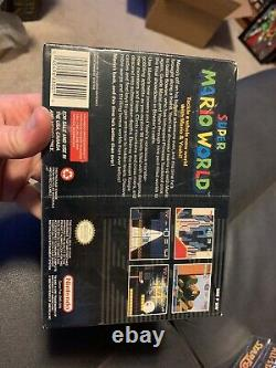 Brand New Factory Sealed SNES Super Mario World Nintendo Original Black Label