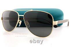 Brand New GUCCI Sunglasses GG 0528S 006 Gold Frames/Gray Lenses For Men