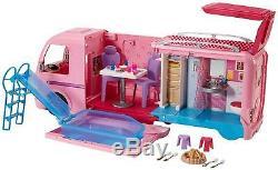 Brand New Mattel Barbie Dream Camper Pink RV Bus Home Van Motor Playset