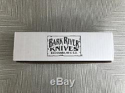 Brand New NIB Bark River Knives Gunny Hunter A2 Desert Ironwood #1 With Sheath