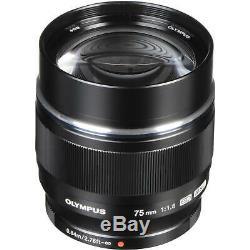 Brand New Olympus M. Zuiko Digital ED 75mm F1.8 Lens Black Original Box US SHIP4