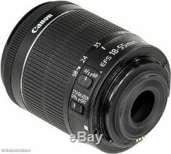 Brand New Original Canon EF-S 18-55mm F4-5.6 IS STM Bulk Box Black UKau