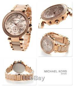 Brand New Original Michael Kors Ladies Watch Mk5896 Parker Rose Gold Uk