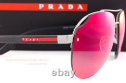 Brand New Prada Sport Sunglasses PS 52VS 7CQ 9Q1 Matte Gunmetal/Mirror Blue Red