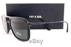 Brand New Prada Sunglasses PR 06VS 1AB 1A1 Black/Gray For Men Women