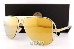 Brand New VERSACE Sunglasses VE 2212 10027P Gold/Brown Mirror Gold For Men