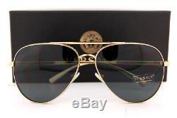 Brand New VERSACE Sunglasses VE 2217 100287 Gold/Gray For Men