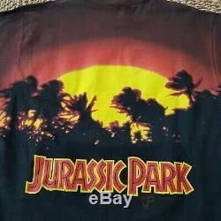 Brand New Vintage 1993 Jurassic Park All Over Print Movie Shirt Mens Size XL