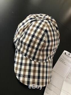 Brand New Vintage Aquascutum Baseball Cap With Original Receipt Regent Street