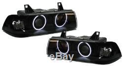CCFL Angel Eyes Scheinwerfer schwarz für BMW 3ER E36 Coupe Cabrio
