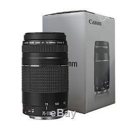 Canon EF 75-300mm f/4-5.6 III Telephoto Zoom Lens for Canon Cameras ORIGINAL BOX